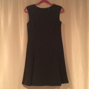 Black Ann Taylor Dress with Leather Detailing
